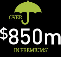 over 850m in premiums